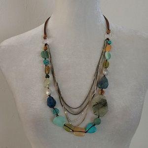Nakamol Boho Mixed Stone Necklace